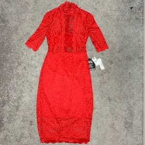 Cherry Red Lace Dress